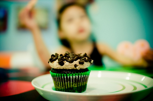 Tasty chocolate cupcake