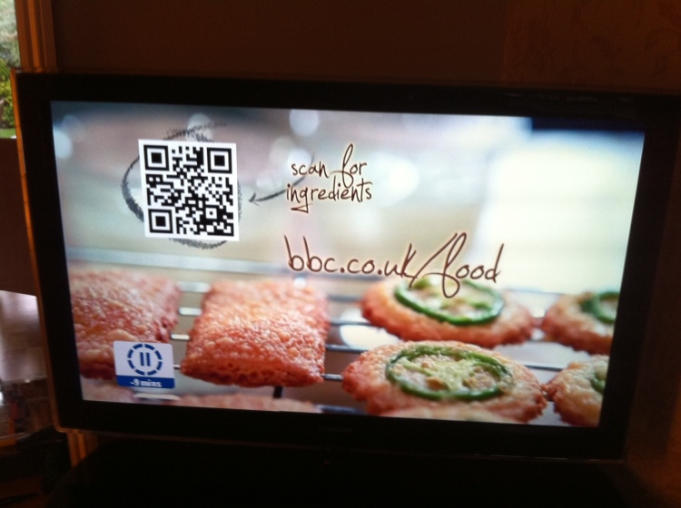 QR code on BBC food advert