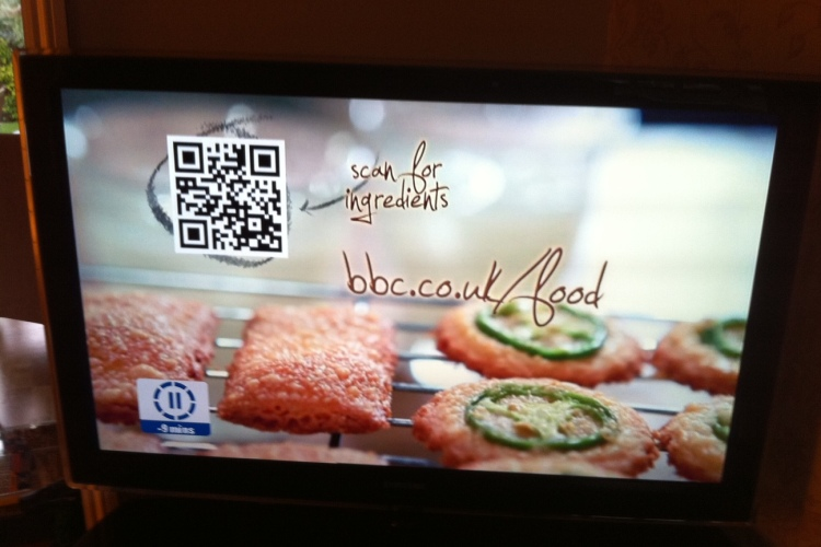 QR code on BBC food advert