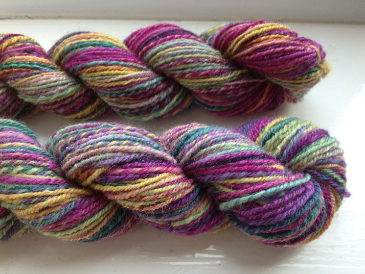 BFL & Sparkle - Bluefaced Leicester & Sparkle hand-dyed from Sara's Textures Crafts